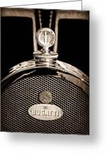 1927 Bugatti Replica Hood Ornament - Emblem Greeting Card