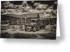 1927 Dodge Braham Bodie Ca Sepia Img 7299 Greeting Card