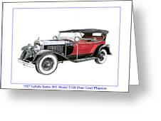 1927 La Salle Dual Cowl Phaeton Greeting Card