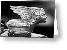 1928 Buick Custom Speedster Hood Ornament 3 Greeting Card by Jill Reger