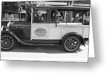 1928 Chevy Half Ton Pick Up In Black And White Greeting Card