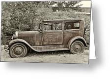 1928 Chevy Greeting Card by Robert Jensen