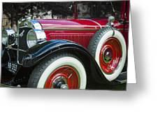 1928 Hupmobile Century Model E4 4 Door Sedan Greeting Card