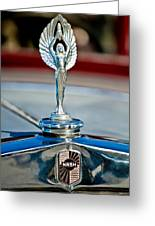 1928 Nash Coupe Hood Ornament 2 Greeting Card