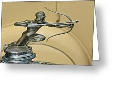 1928 Pierce Arrow Helmeted Archer Hood Ornament Greeting Card