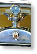 1928 Pierce-arrow Hood Ornament Greeting Card