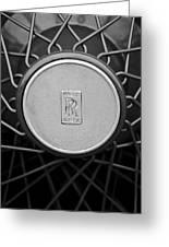 1928 Rolls-royce Spoke Wheel Greeting Card