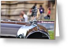 1928 Vintage Chrysler 72 Series - Hood Ornament Greeting Card