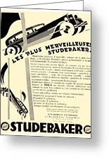 1929 - Studebaker Automobile Franch Advertisement Greeting Card