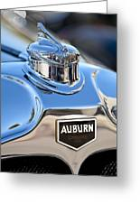 1929 Auburn 8-90 Speedster Hood Ornament Greeting Card