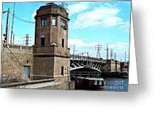 1929 Dix Lift Bridge Greeting Card