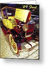 1929 Ford Digital Art Greeting Card
