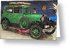 1929 Ford Model A By Liane Wright Greeting Card