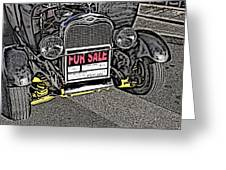 1929 Ford Model A For Sale Greeting Card