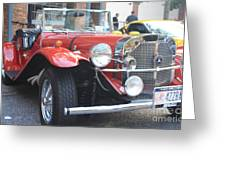 1929 Mercedes Benz Front And Side View Greeting Card