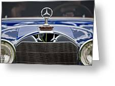 1929 Mercedes Benz S Erdmann And Rossi Cabiolet Hood Ornament Greeting Card
