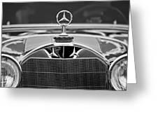 1929 Mercedes-benz S Erdmann - Rossi Cabiolet Hood Ornament Greeting Card