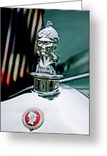 1929 Minerva Hood Ornament Greeting Card