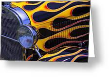 1929 Model A 2 Door Sedan With Flames Greeting Card