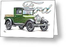 1929 Model A Ford Truck Greeting Card