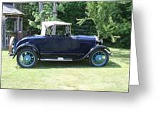1929 Model-a Roadster 4 Greeting Card