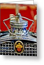1929 Packard 8 Hood Ornament 2 Greeting Card