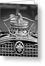 1929 Packard 8 Hood Ornament 4 Greeting Card