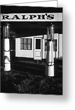 1929 Ralph's Service Station Armory Park Tucson Arizona Greeting Card