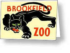 1930 - Brookfield Zoo Poster - Boston - Color Greeting Card