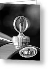 1930 Bugatti Hood Ornament Greeting Card