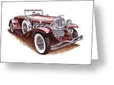 1930 Dusenberg Model J Greeting Card