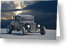 1930 Ford Hiboy Coupe Greeting Card