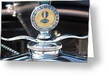1930 Ford Model A - Hood Ornament - 7488 Greeting Card