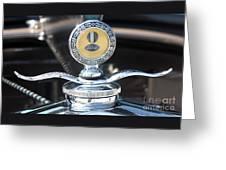 1930 Ford Model A - Hood Ornament - 7488 Greeting Card