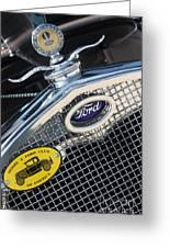 1930 Ford Model A - Radiator N Grill - 7479 Greeting Card