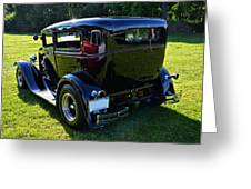 1930 Ford Model A Sedan Greeting Card