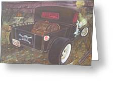 1930 Ford Pick Up Truck/reaper Greeting Card