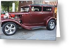 1930 Ford Two Door Sedan Side View Greeting Card