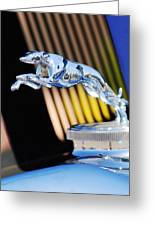 1930 Lincoln L Judkins Berline Hood Ornament Greeting Card