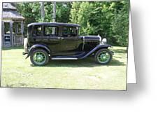 1930 Model-a Town Car 1 Greeting Card
