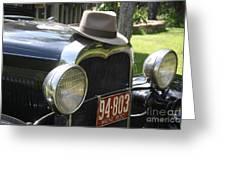 1930 Model-a Town Car 2 Greeting Card