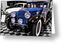 1930 Packard Limousine Greeting Card