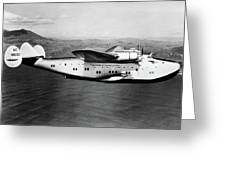 1930s 1940s Pan American Clipper Flying Greeting Card by Vintage Images