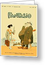 1931 - Fantasio French Magazine Cover - September - Color Greeting Card