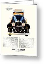 1931 - Packard Automobile Advertisement - Color Greeting Card