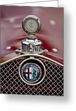 1931 Alfa-romeo Hood Ornament Greeting Card