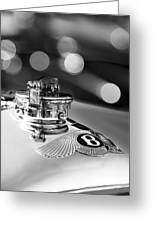 1931 Bentley 4.5 Liter Supercharged Le Mans Hood Emblem -1122bw Greeting Card