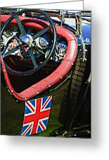 1931 Bentley 4.5 Liter Supercharged Le Mans Steering Wheel -1255c Greeting Card