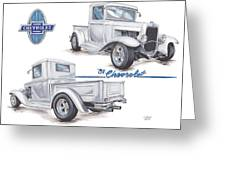 1931 Chevrolet Truck Hot Rod Greeting Card