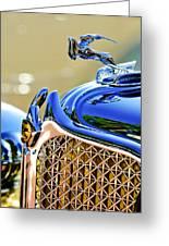 1931 Chrysler Cg Imperial Dual Cowl Phaeton Hood Ornament - Grille Greeting Card
